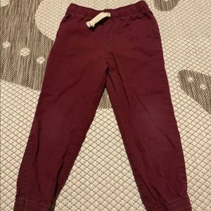 4T red pants